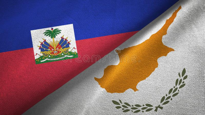 Torkduk f?r Haiti och Cypern tv? flaggatextil, tygtextur royaltyfria foton