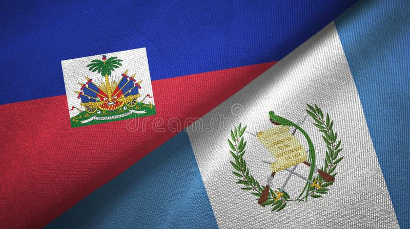 Torkduk f?r Haiti och Guatemala tv? flaggatextil, tygtextur arkivbild