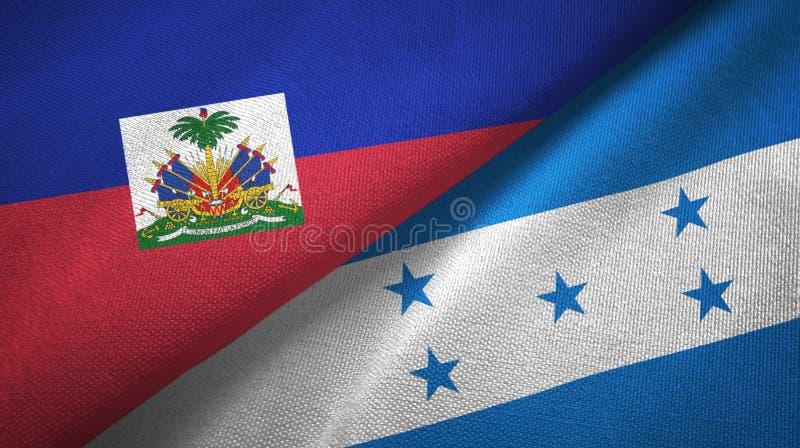 Torkduk f?r Haiti och Honduras tv? flaggatextil, tygtextur fotografering för bildbyråer