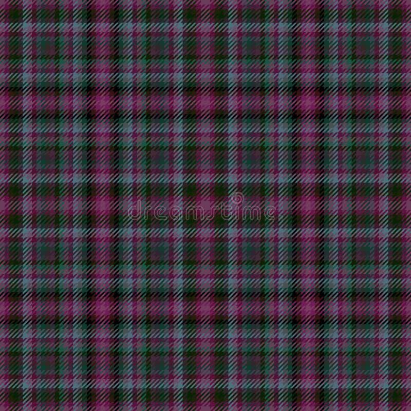 Torkduk f?r tartan f?r tygpl?d skotsk designmaterial vektor illustrationer