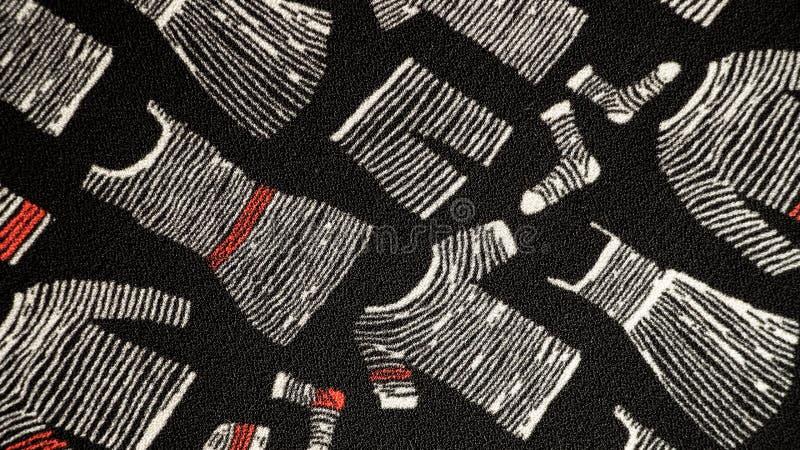 Torkdukemodell på svart bakgrund för tyg arkivbild
