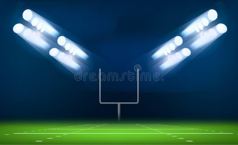 Torkonzepthintergrund des amerikanischen Fußballs, realistische Art vektor abbildung