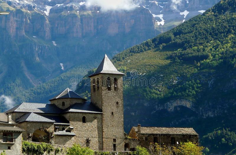Torla, village of the Aragonese Pyrenees. Ordesa royalty free stock photo