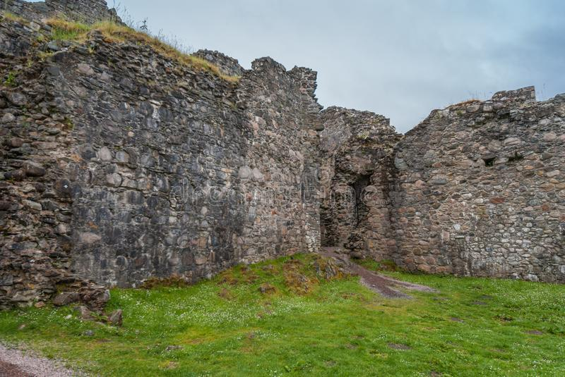 Inside view on ramparts of Inverlochy Castle, Scotland. royalty free stock images