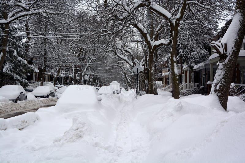 Tormenta de la nieve imagenes de archivo