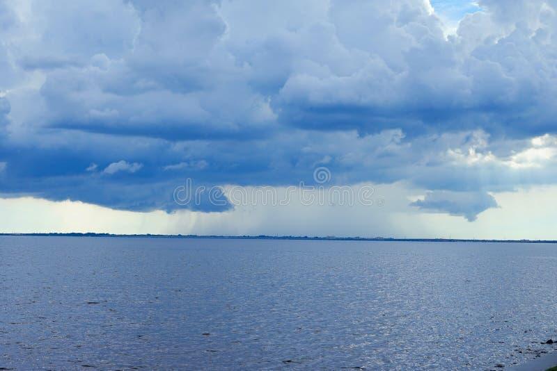 Tormenta de la playa de Tampa Bay fotografía de archivo