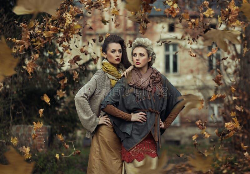 Tormenta de las hojas de otoño fotografía de archivo