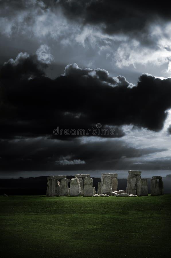 Tormenta de Stonehenge imagen de archivo libre de regalías
