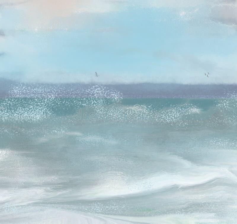 Tormenta del mar ilustración del vector