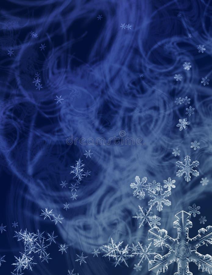 Tormenta del pleno invierno ilustración del vector