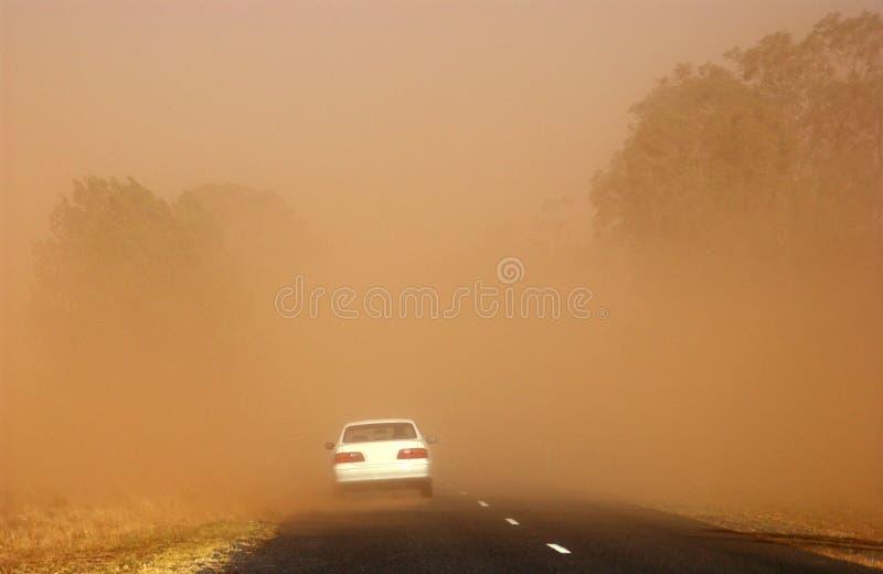 Tormenta del polvo en el central foto de archivo