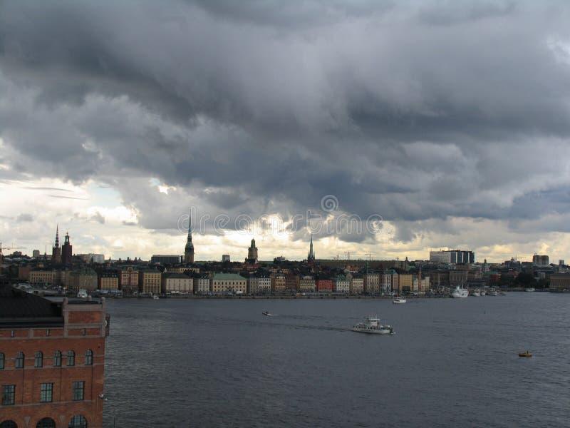Tormenta en Estocolmo foto de archivo libre de regalías