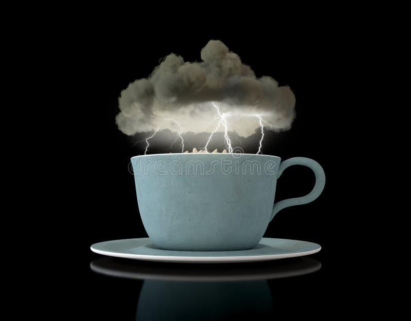 Tormenta en una taza de té libre illustration