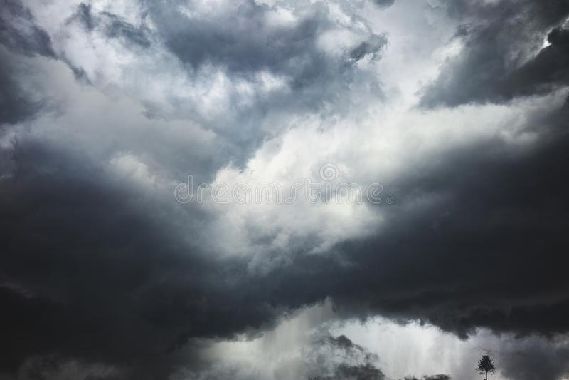 Tormenta peligrosa en la costa de la Florida foto de archivo