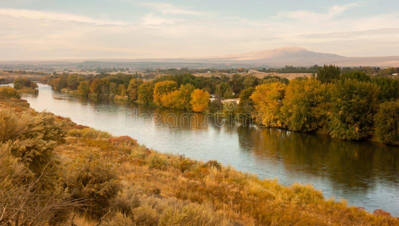 Tormenta que despeja sobre la región agrícola Yakima River Central Washington fotos de archivo libres de regalías