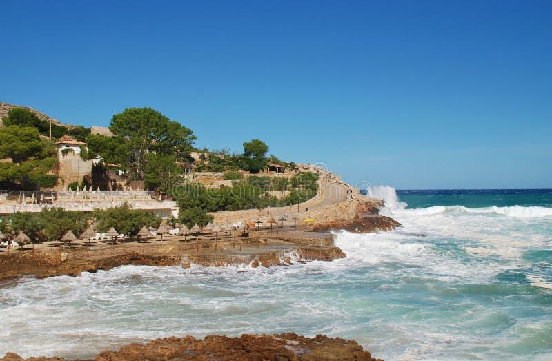 Tormentas de Cala San Vicente, Majorca foto de archivo libre de regalías