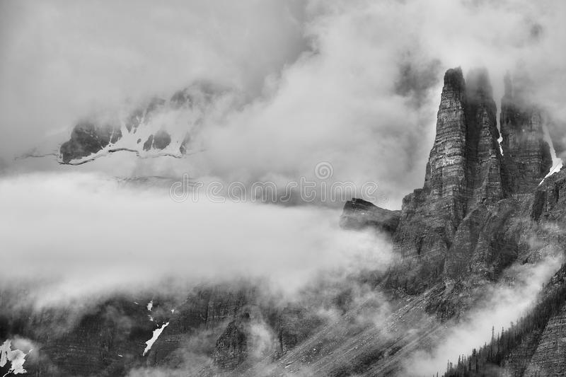 Torn av Babel Banff National Park arkivbilder