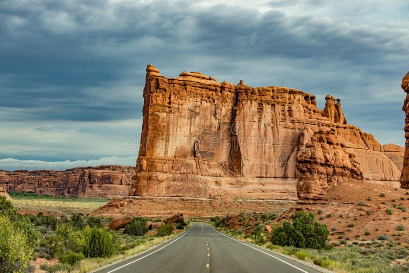 Torn av Babel i Utah royaltyfria foton