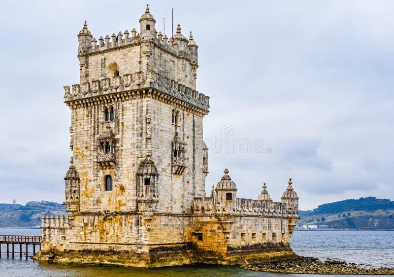 Torn av Belem på Lissabon royaltyfri fotografi