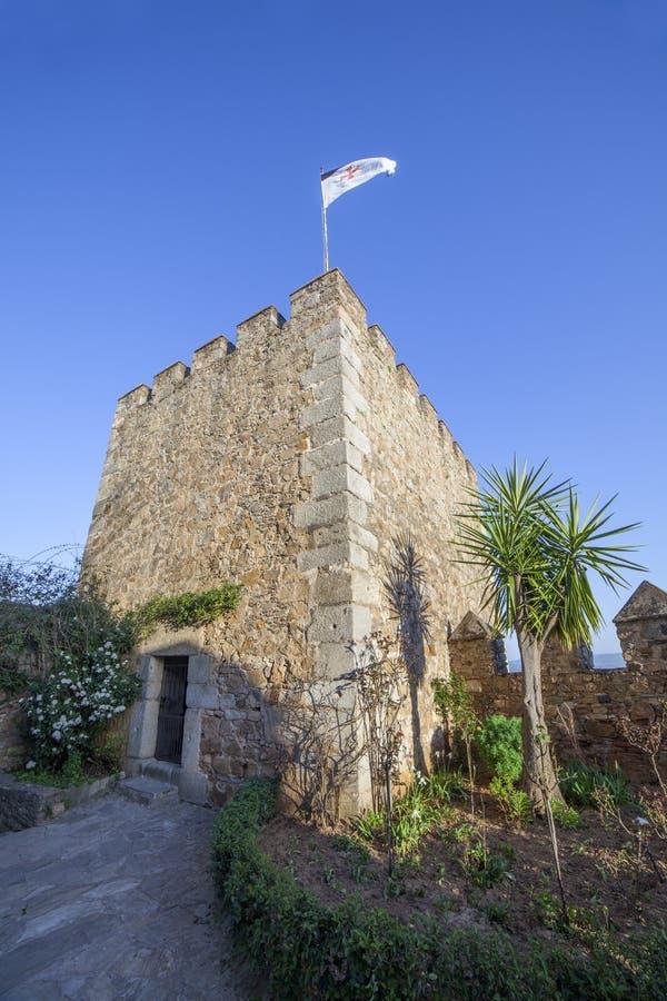 Torn av blod på den Templar fästningen av Jerez de los Caballeros, Spanien fotografering för bildbyråer