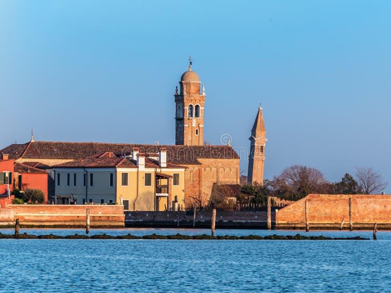 Torn av Burano och Mazzorbo royaltyfri foto