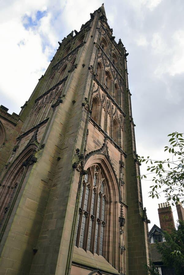 Torn av Coventry den gamla domkyrkan royaltyfria foton