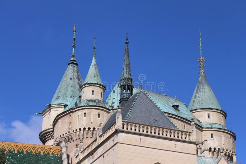 Torn av den Bojnice slotten, Slovakien royaltyfri bild