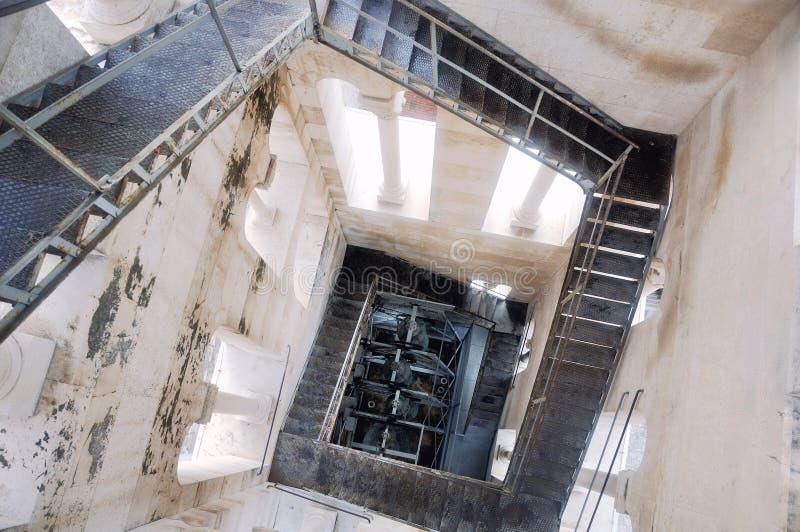 Torn av den Diocletian slotten, splittring, Kroatien royaltyfria bilder