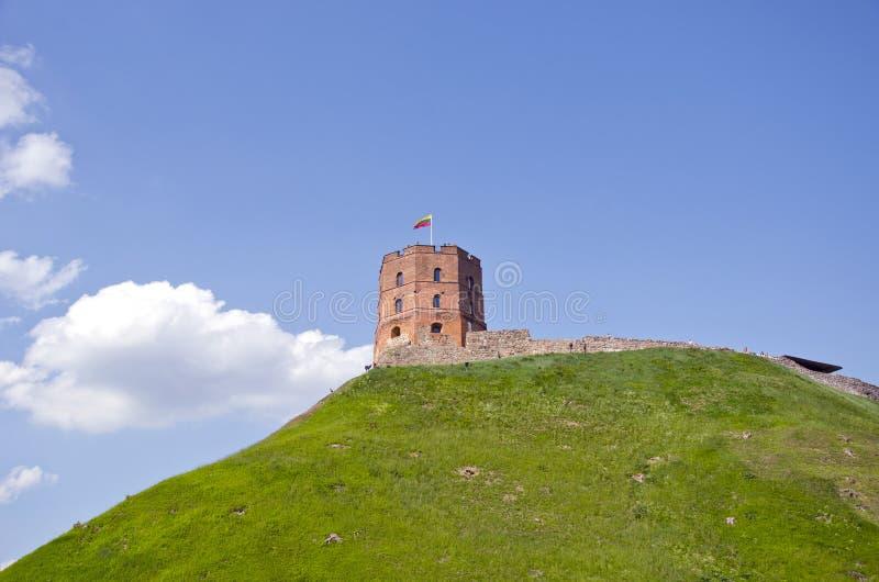 Torn av den Gediminas slotten, Vilnius, Litauen royaltyfria foton