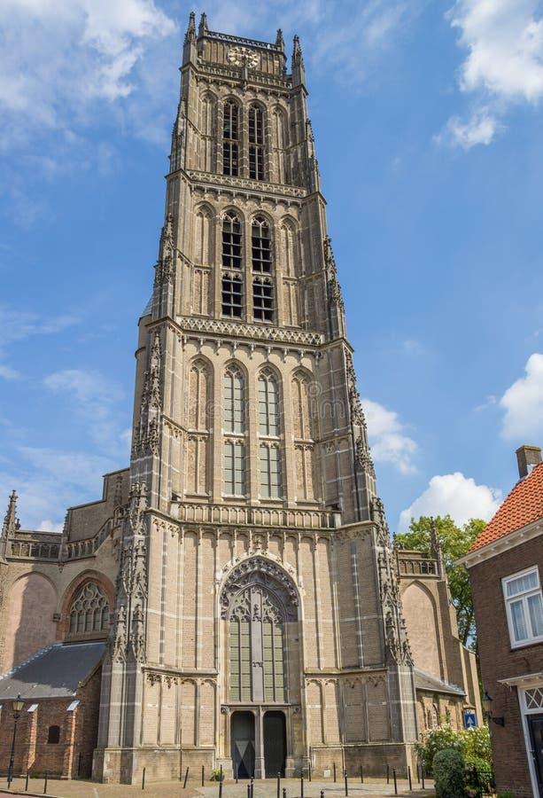 Torn av den stora kyrkan av Zaltbommel royaltyfri bild