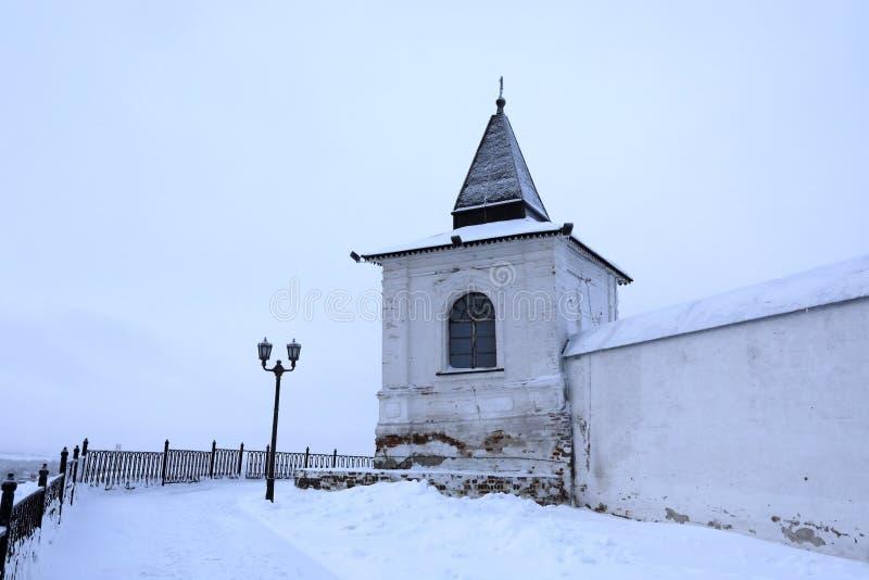 Torn av den Tobolsk Kreml royaltyfri fotografi