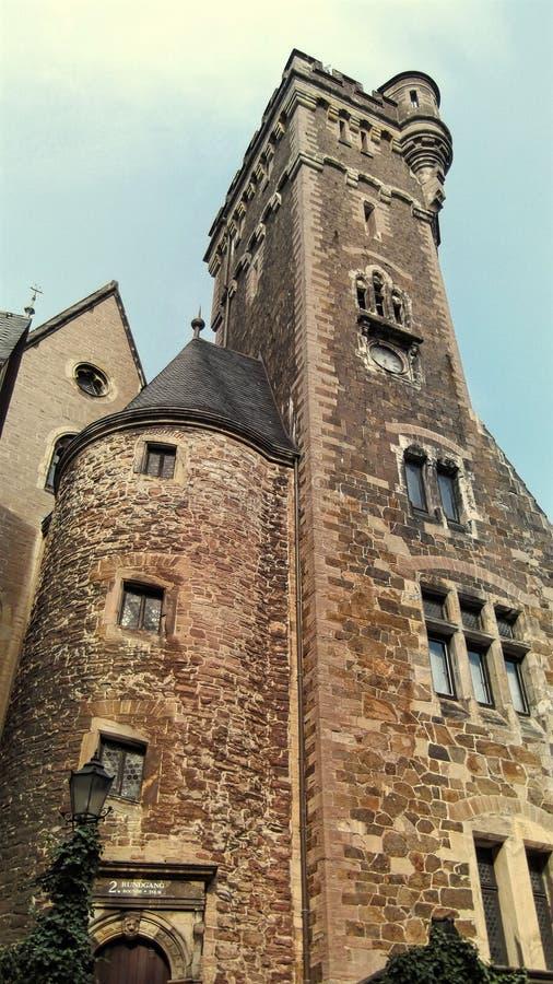 Torn av den Wernigerode slotten i Tyskland royaltyfria bilder