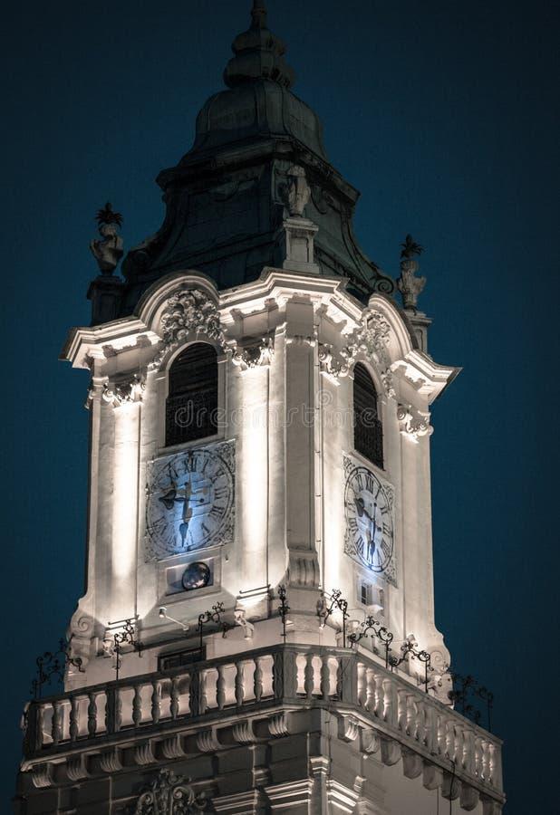Torn av det gamla stadshuset, Bratislava - Slovakien royaltyfria bilder
