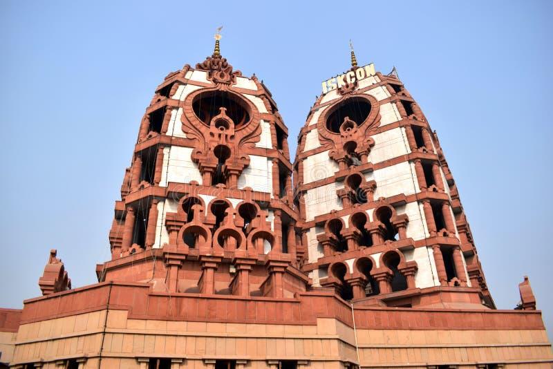 Torn av en ISKCON-tempel i Delhi arkivbild