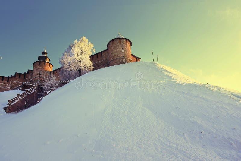 Torn av Nizhny Novgorod kremlin, Ryssland arkivfoto