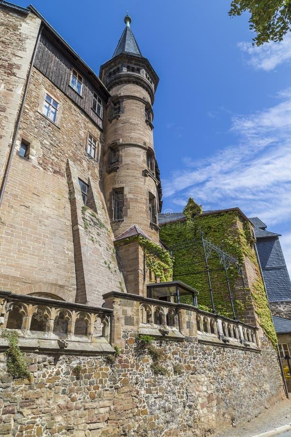 Torn av slotten i Wernigerode arkivbilder