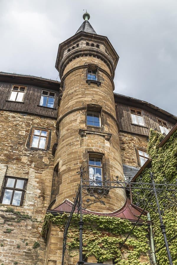 Torn av slotten i Wernigerode royaltyfri bild