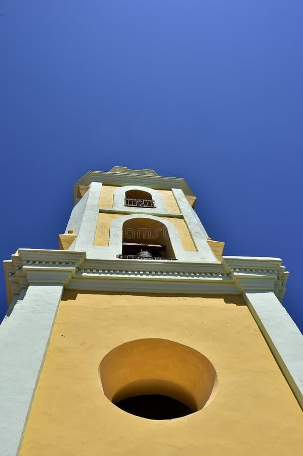 Torn av St Francis av den Assisi kloster och kyrkan cuba trinidad royaltyfri fotografi