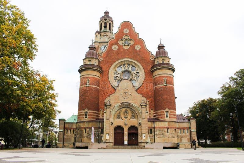 Torn av St Johannes Church i Malmo, Sverige royaltyfria bilder