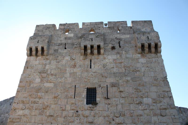 Torn av väggarna av Jerusalem, Israel royaltyfri foto