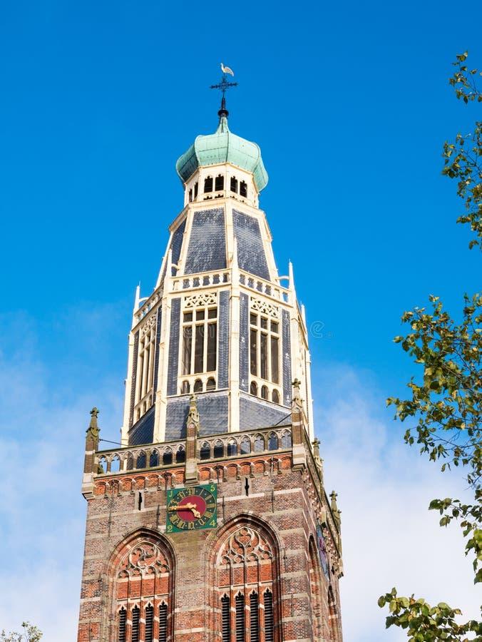 Torn av Zuiderkerk, den södra kyrkan eller den St Pancras kyrkan i En royaltyfri foto