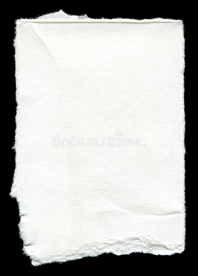 Torn blank paper with copy space