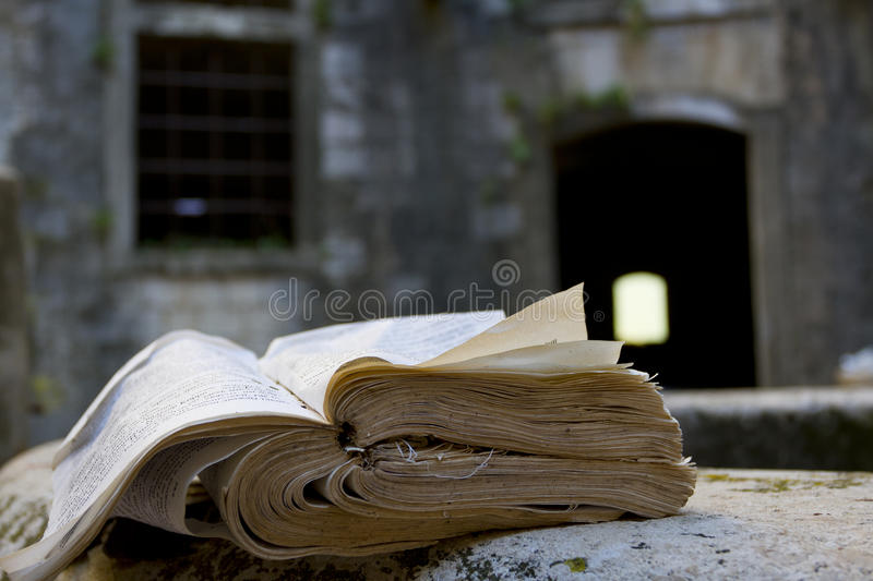 Torn book stock photography