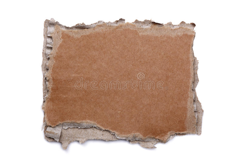 Torn cardboard blank sign royalty free stock image