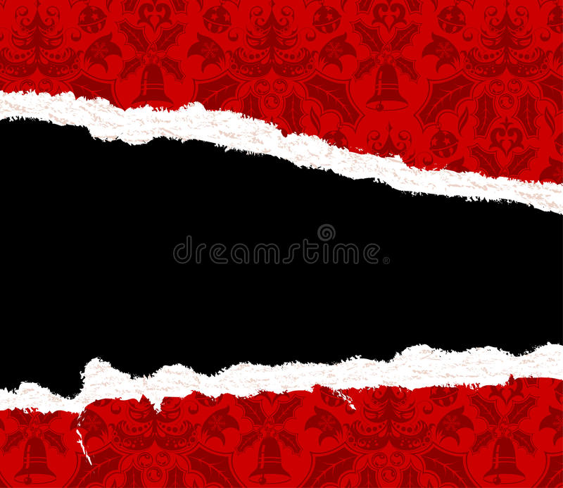Download Torn Christmas Paper stock vector. Image of damaged, artwork - 11857816