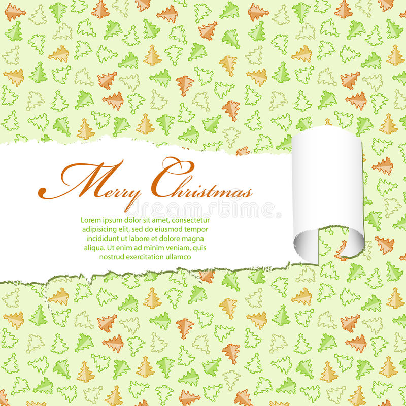 Download Torn Christmas Paper stock vector. Image of hole, pattern - 21945612