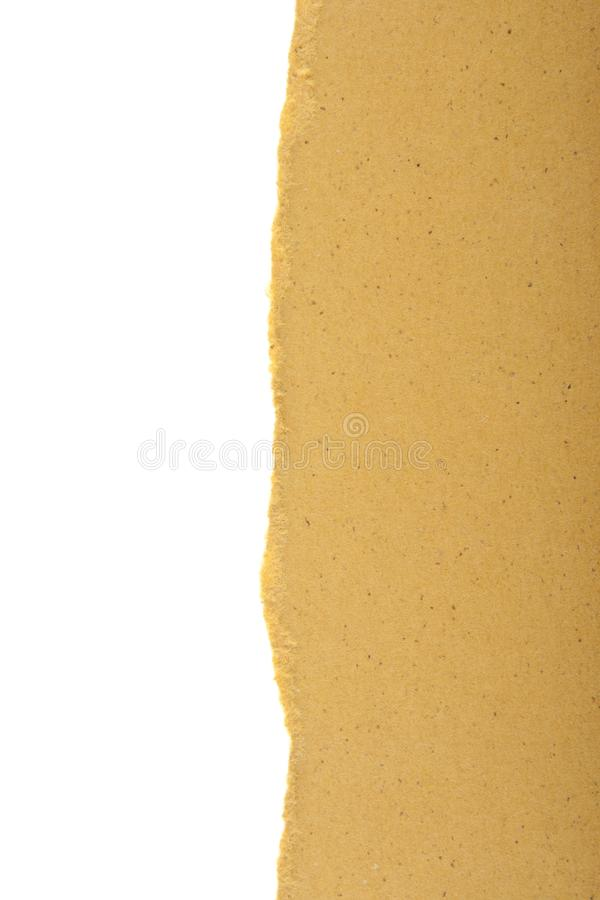 torn colored cardboard isolated on white stock image