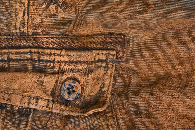 Trousers with mud stock image