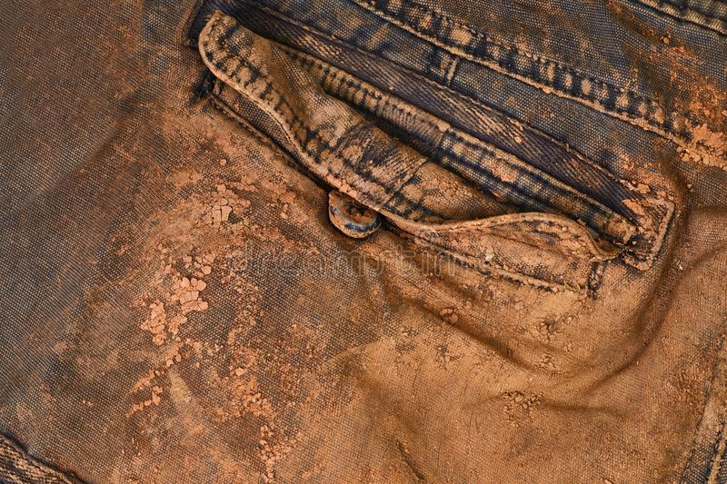Trousers with mud royalty free stock images