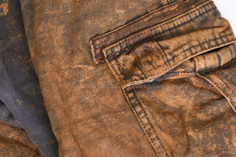 Trousers with mud royalty free stock image